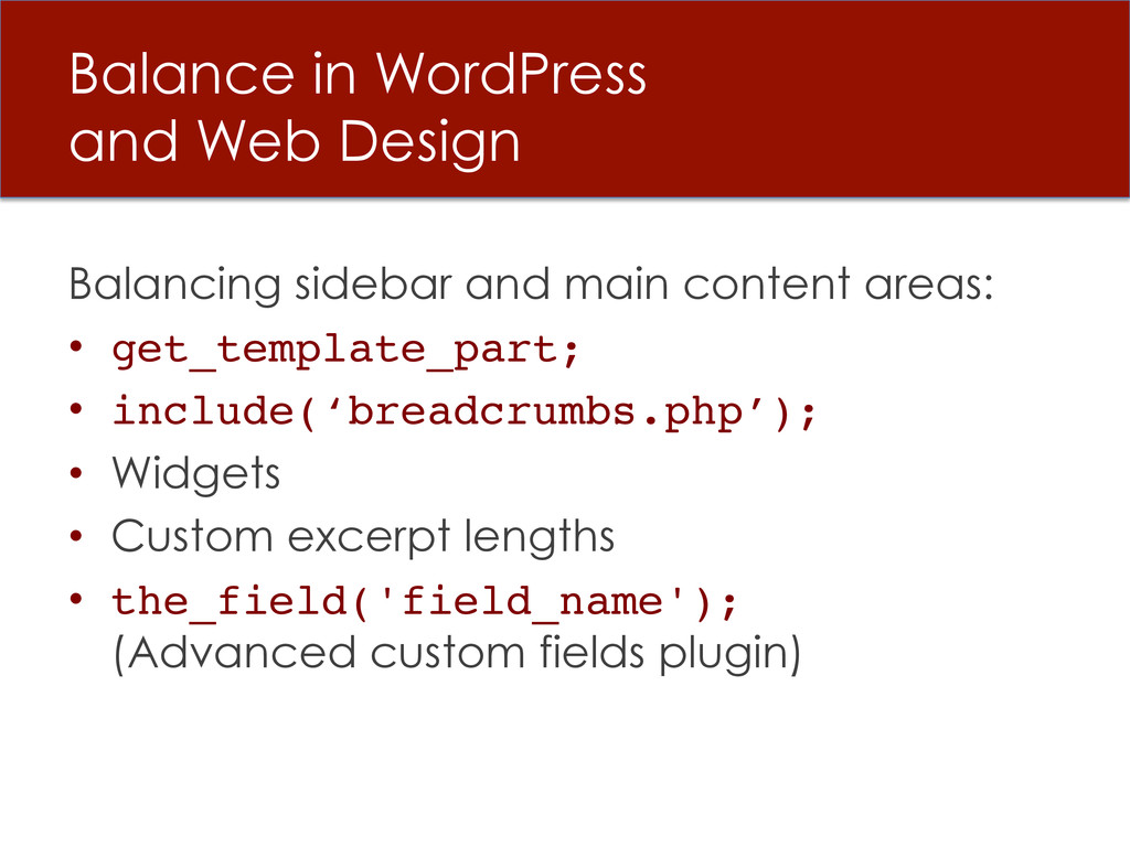 Balance in WordPress and Web Design Balancing s...