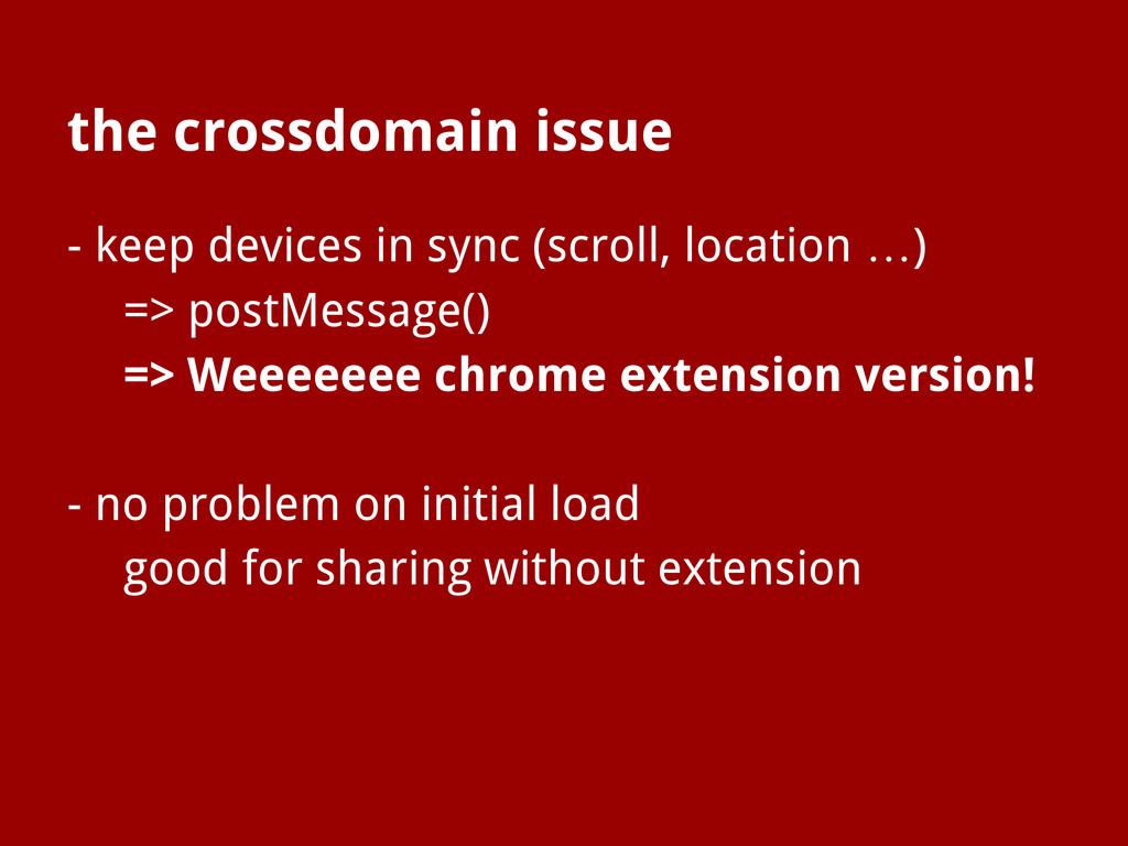 the crossdomain issue - keep devices in sync (s...