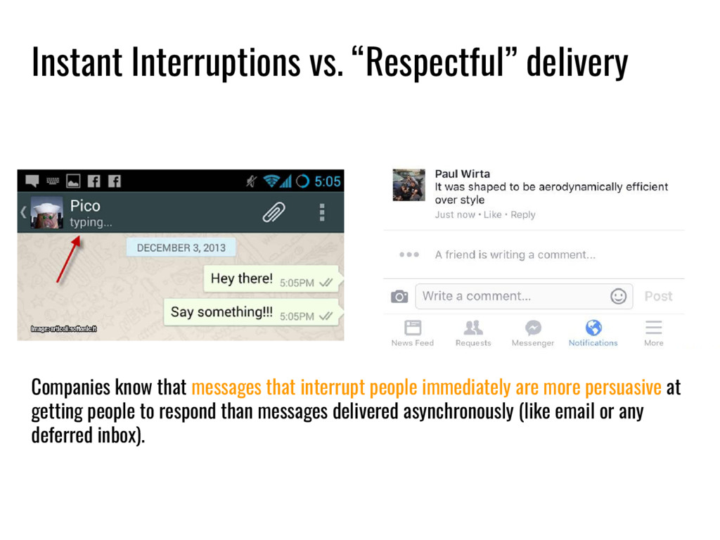 """Instant Interruptions vs. """"Respectful"""" delivery..."""