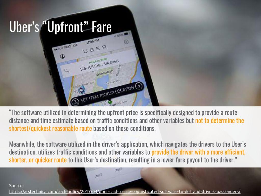 "Uber's ""Upfront"" Fare Source: https://arstechni..."