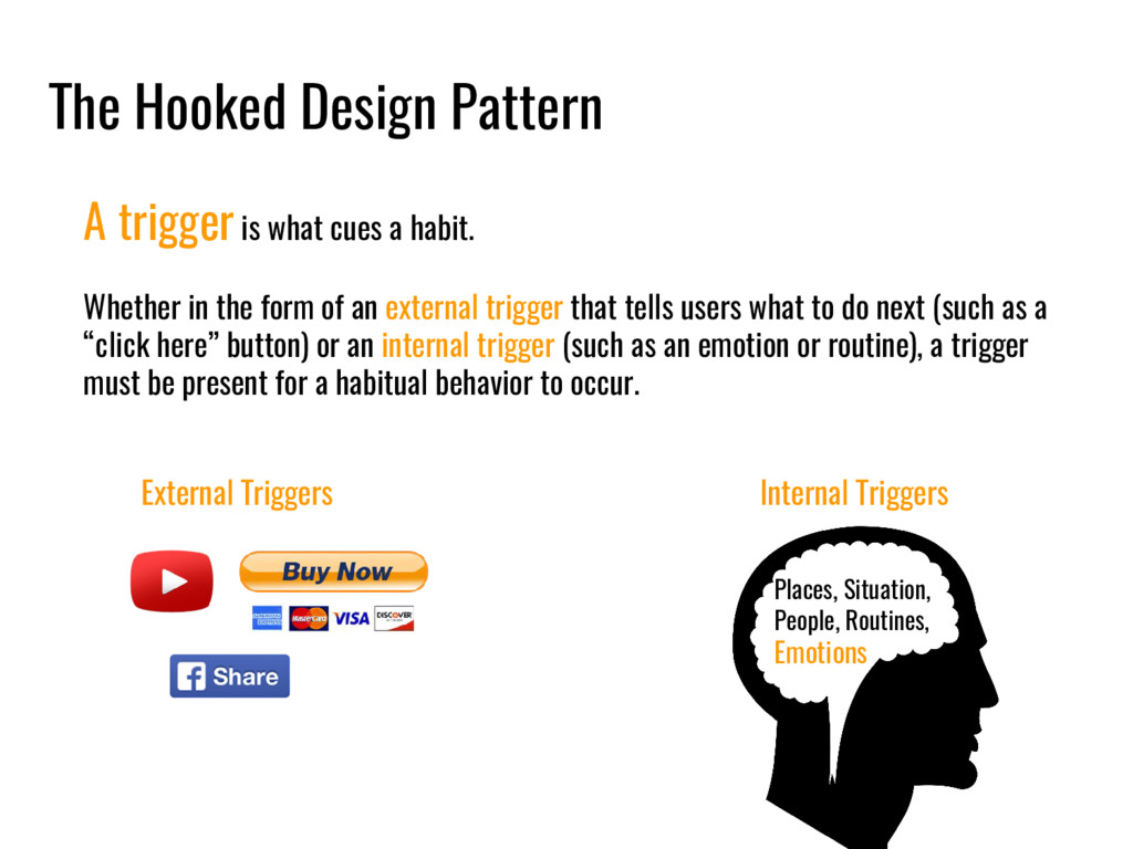 The Hooked Design Pattern A trigger is what cue...