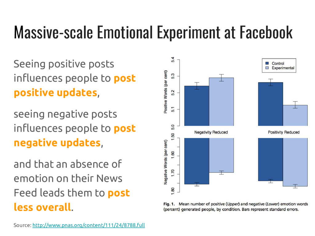 Massive-scale Emotional Experiment at Facebook ...