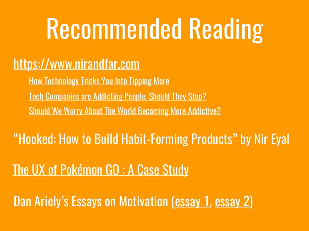 Recommended Reading https://www.nirandfar.com H...
