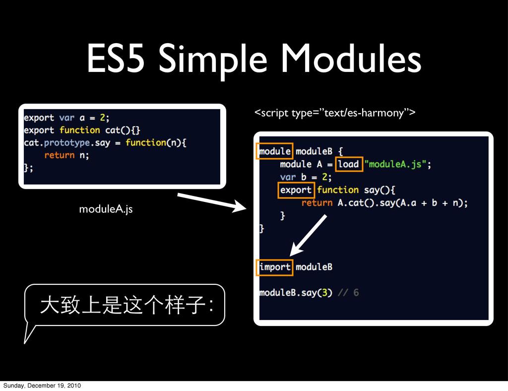 "ES5 Simple Modules <script type=""text/es-harmon..."
