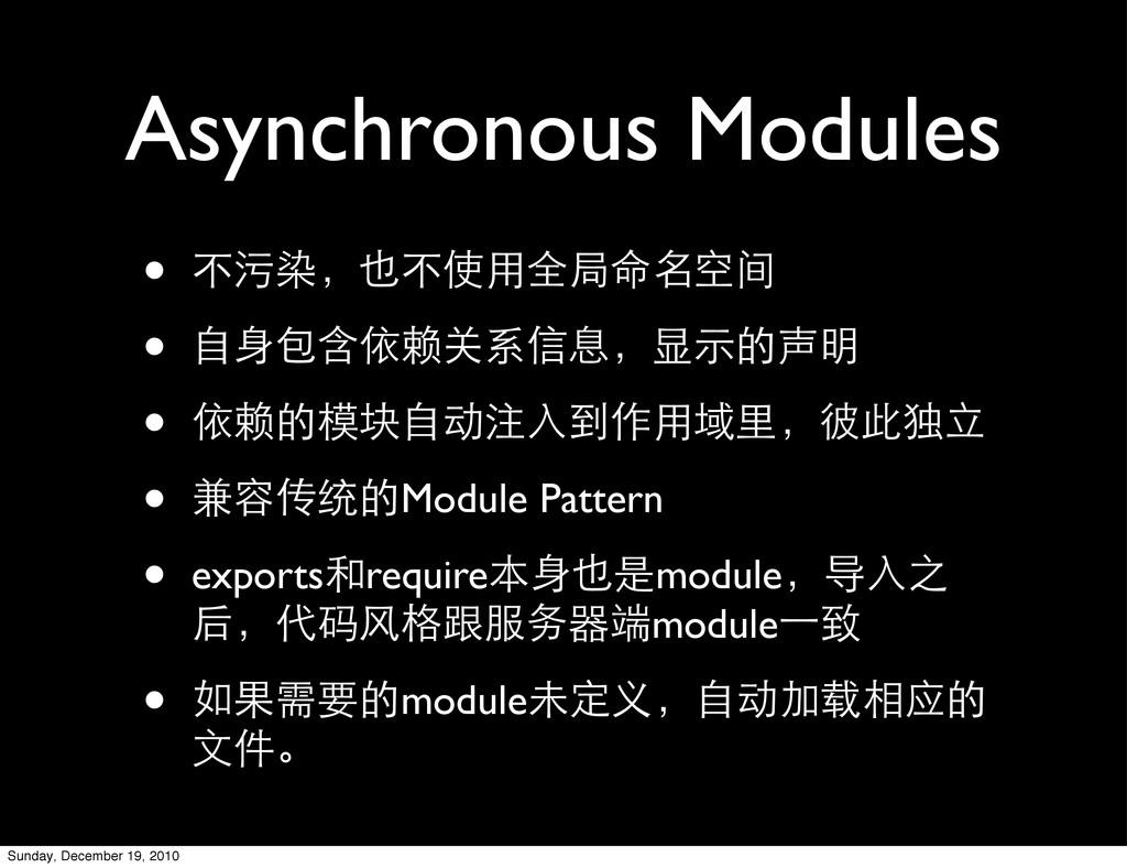 Asynchronous Modules • ҂ಙđ္҂Ⴈಆअଁॢࡗ • ሱദЇݣ၇ঠܱ...