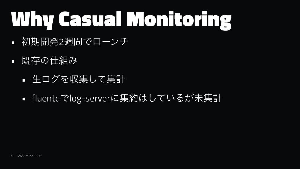 Why Casual Monitoring • ॳظ։ൃ2िؒͰϩʔϯν • طଘͷΈ •...