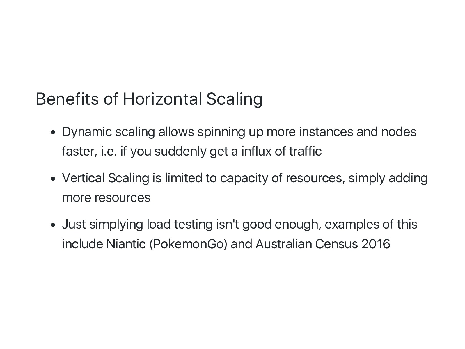 Benefits of Horizontal Scaling Dynamic scaling ...