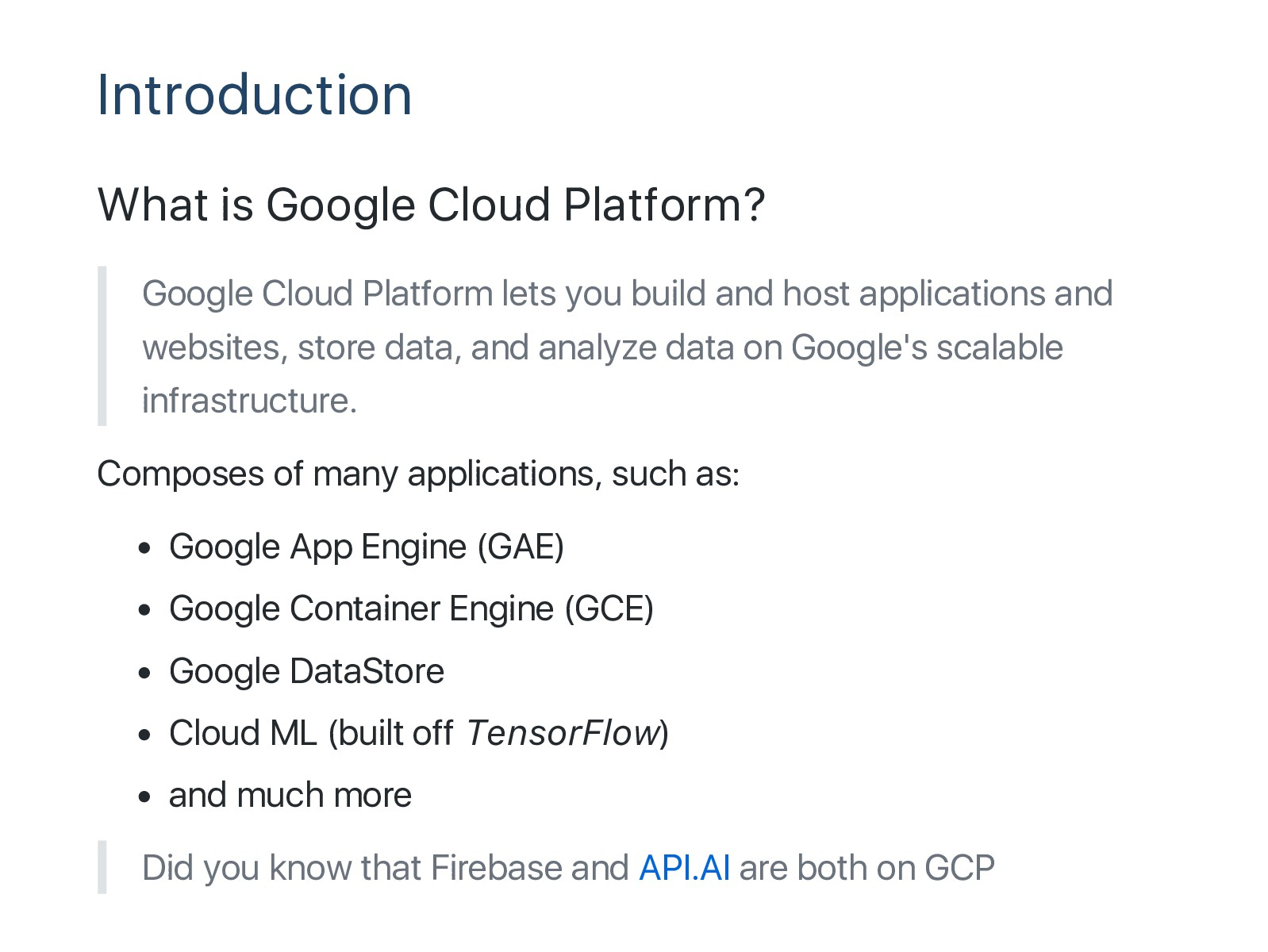 Introduction What is Google Cloud Platform? Goo...