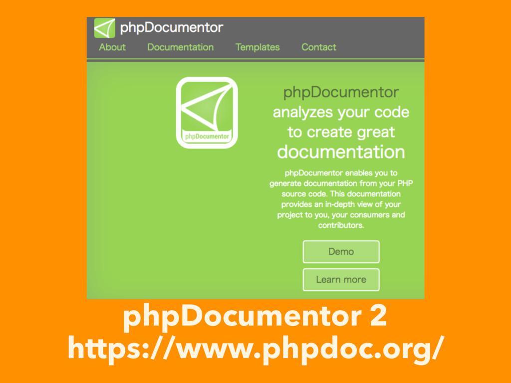 phpDocumentor 2 https://www.phpdoc.org/