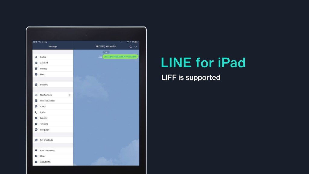 LINE for iPad LIFF is supported