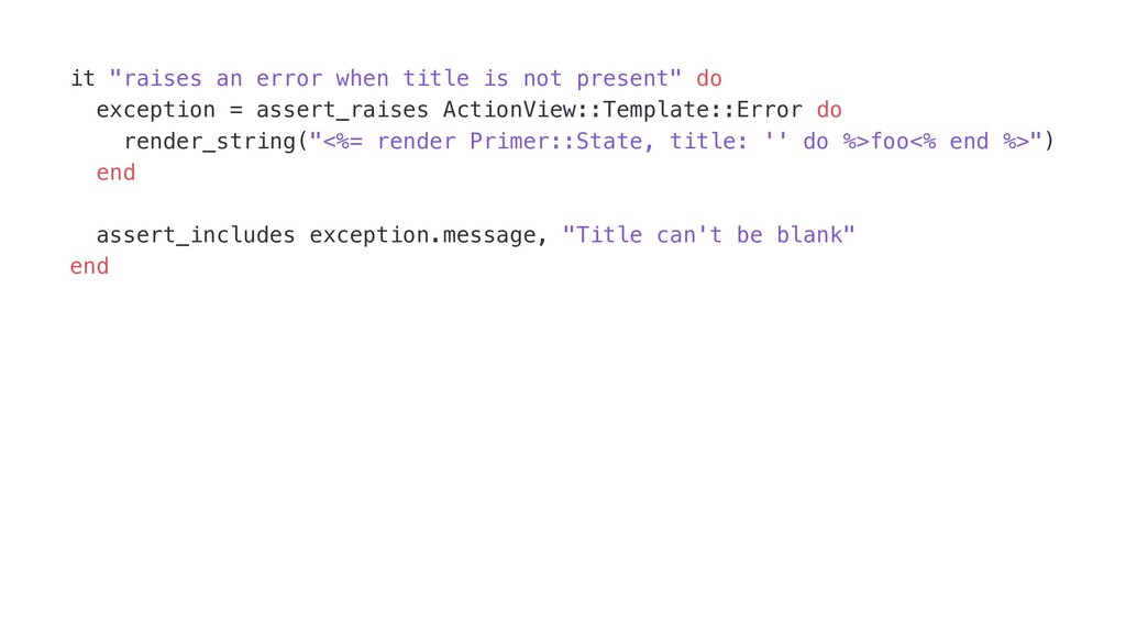 "it ""raises an error when title is not present"" ..."