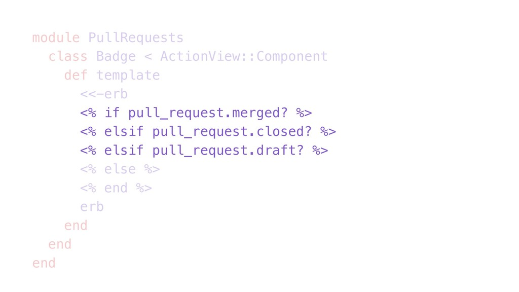 module PullRequests class Badge < ActionView::C...
