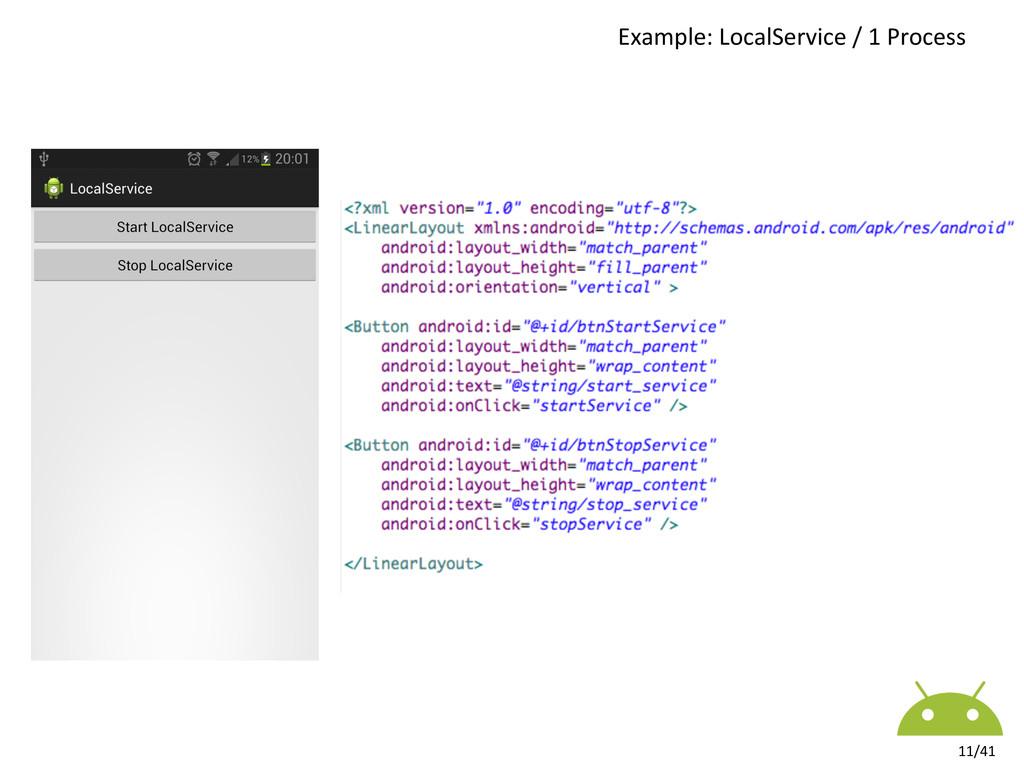 Example: LocalService / 1 Process...