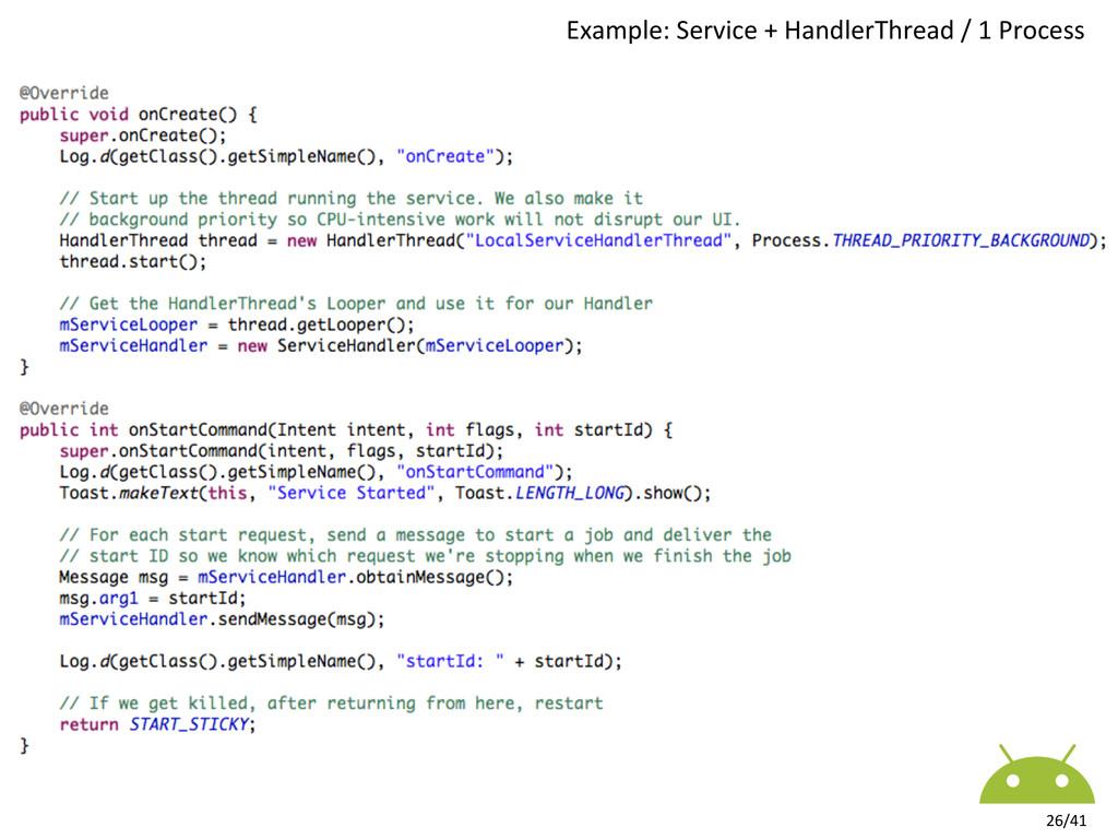 26/41  Example: Service + HandlerTh...