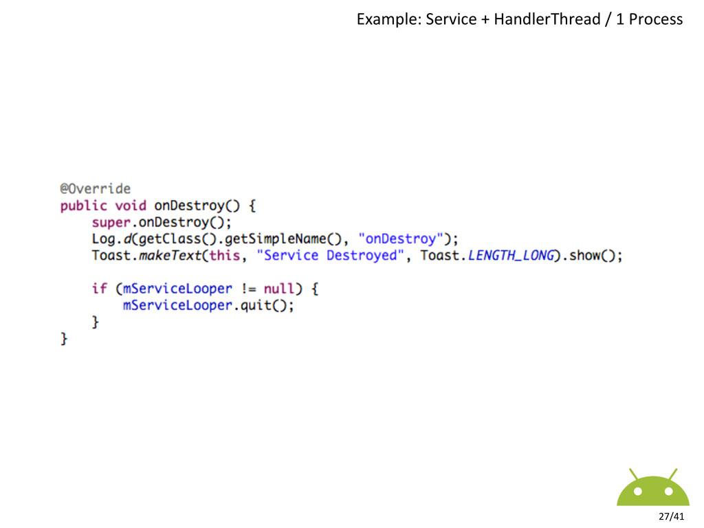 Example: Service + HandlerThread /...