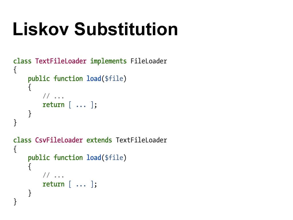 Liskov Substitution class TextFileLoader implem...