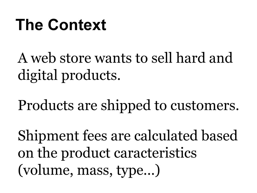 The Context A web store wants to sell hard and ...