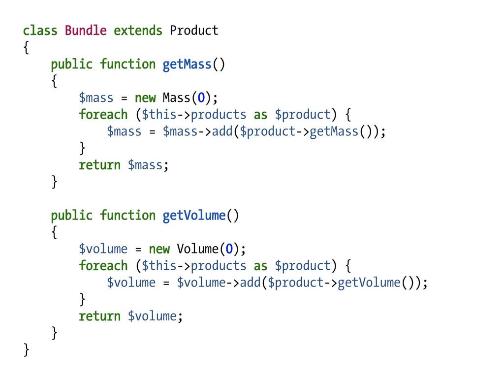 class Bundle extends Product { public function ...