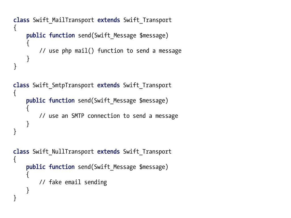 class Swift_MailTransport extends Swift_Transpo...