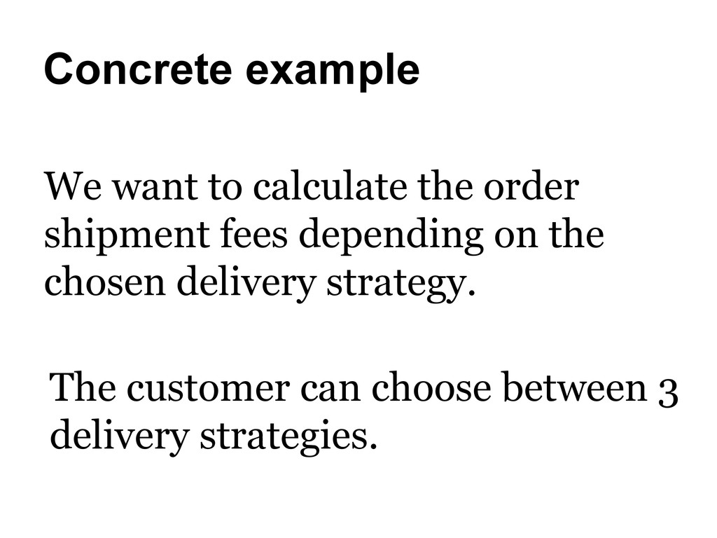 Concrete example We want to calculate the order...