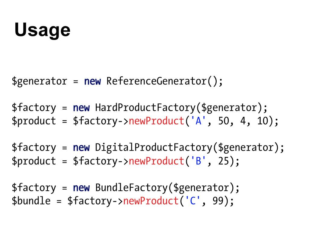 $generator = new ReferenceGenerator(); $factory...