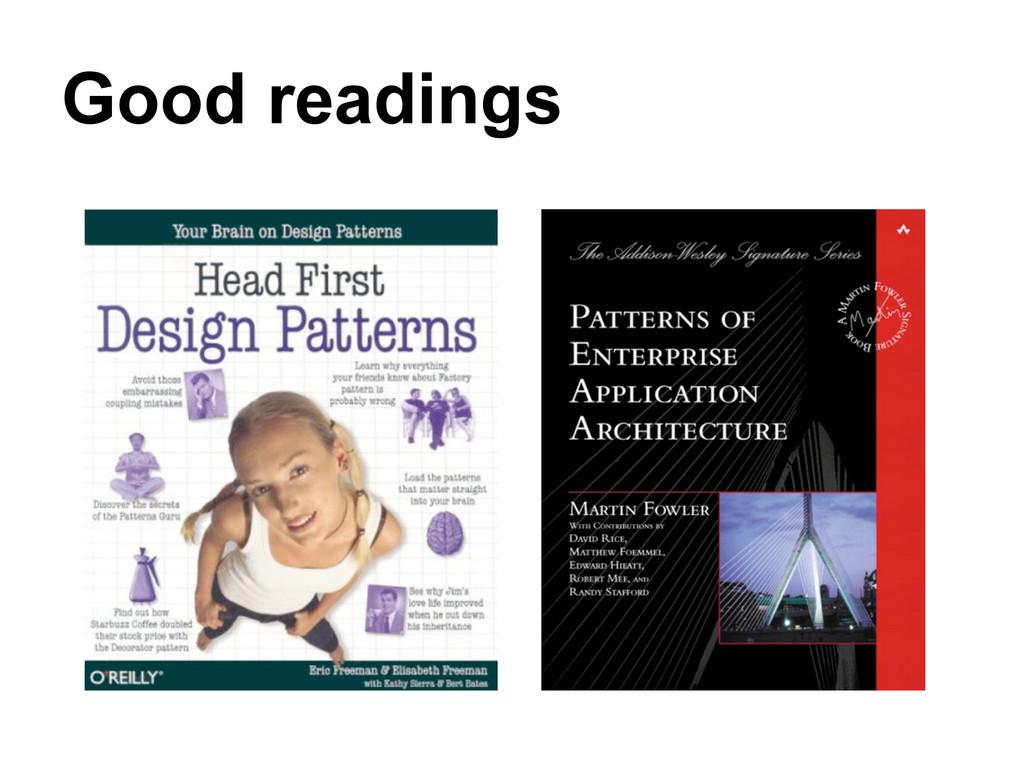 Good readings