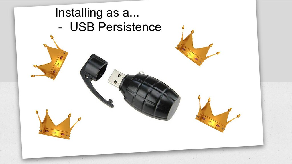 Installing as a... - USB Persistence
