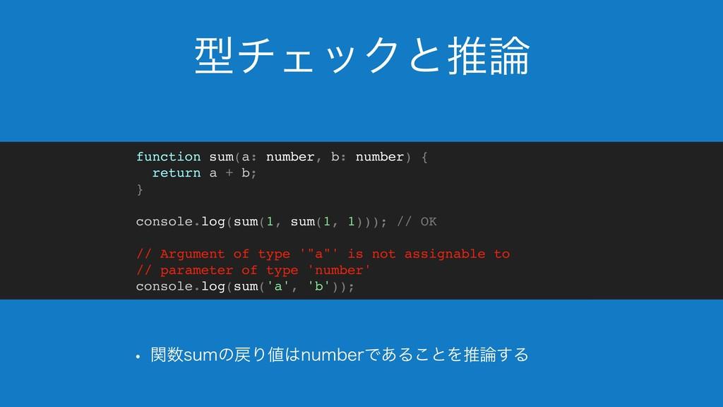ܕνΣοΫͱਪ w ؔTVNͷΓOVNCFSͰ͋Δ͜ͱΛਪ͢Δ function ...