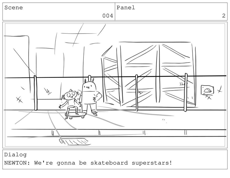 Scene 004 Panel 2 Dialog NEWTON: We're gonna be...