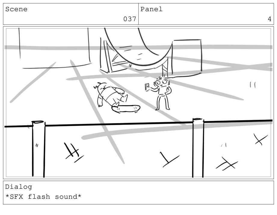 Scene 037 Panel 4 Dialog *SFX flash sound*