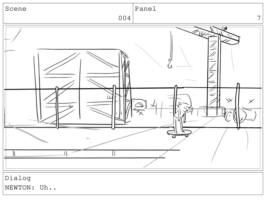 Scene 004 Panel 7 Dialog NEWTON: Uh..