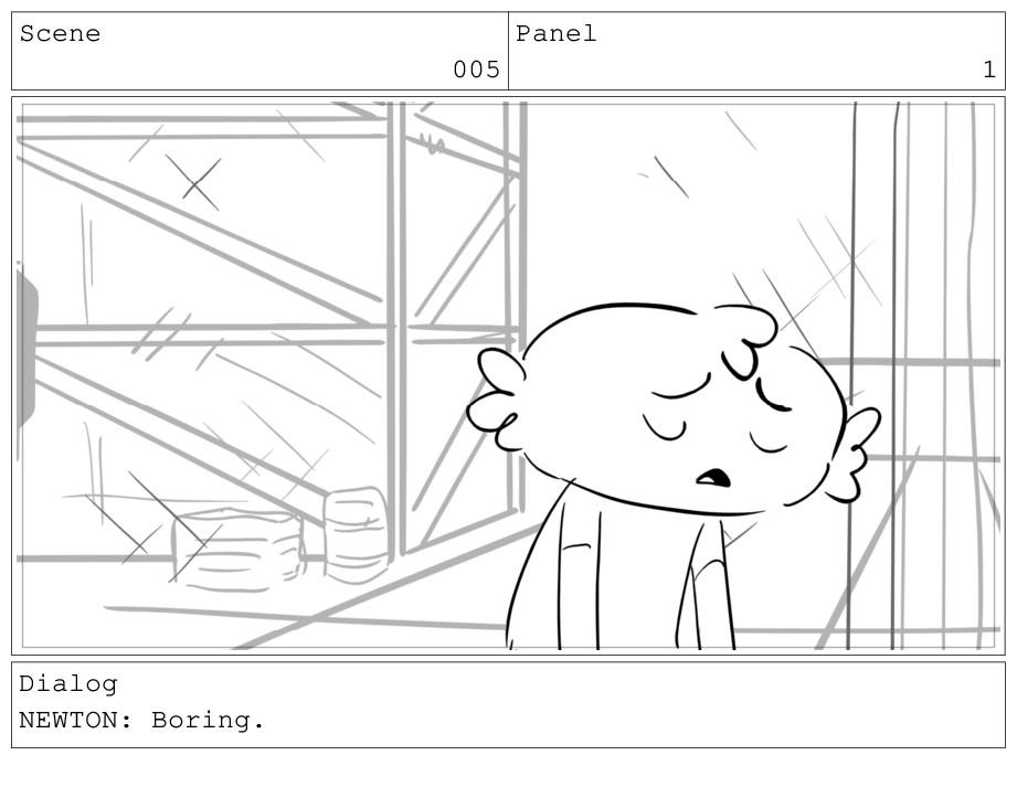 Scene 005 Panel 1 Dialog NEWTON: Boring.