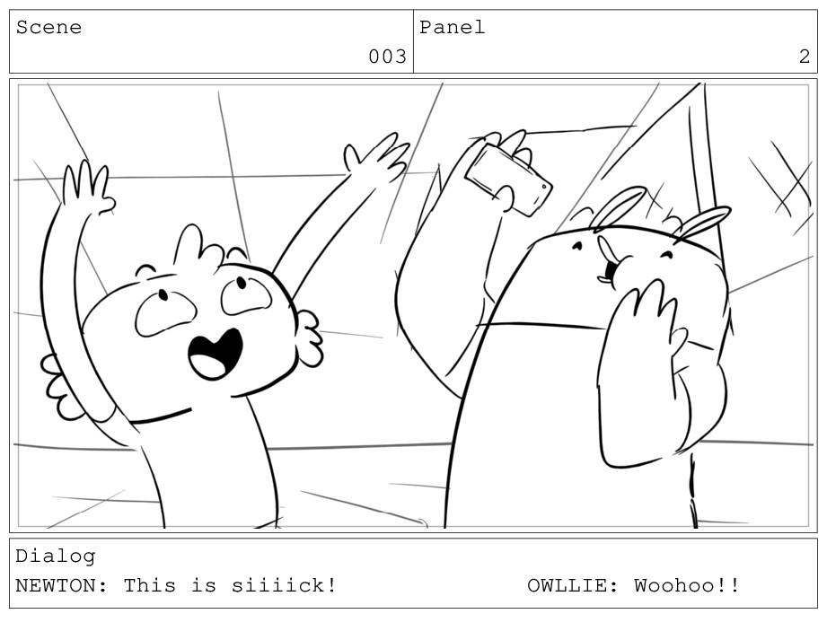 Scene 003 Panel 2 Dialog NEWTON: This is siiiic...