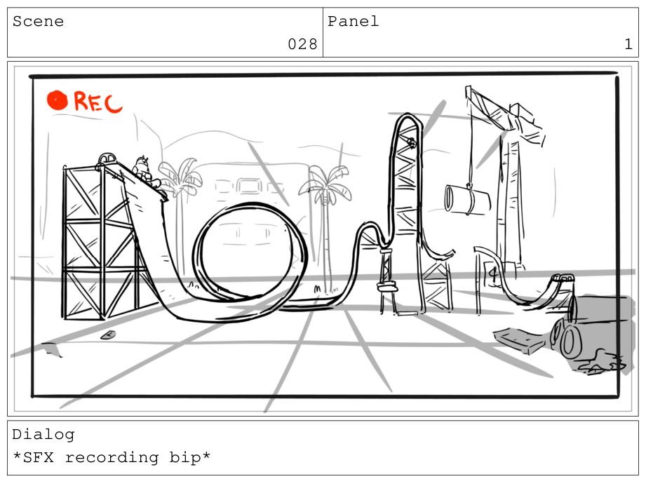 Scene 028 Panel 1 Dialog *SFX recording bip*