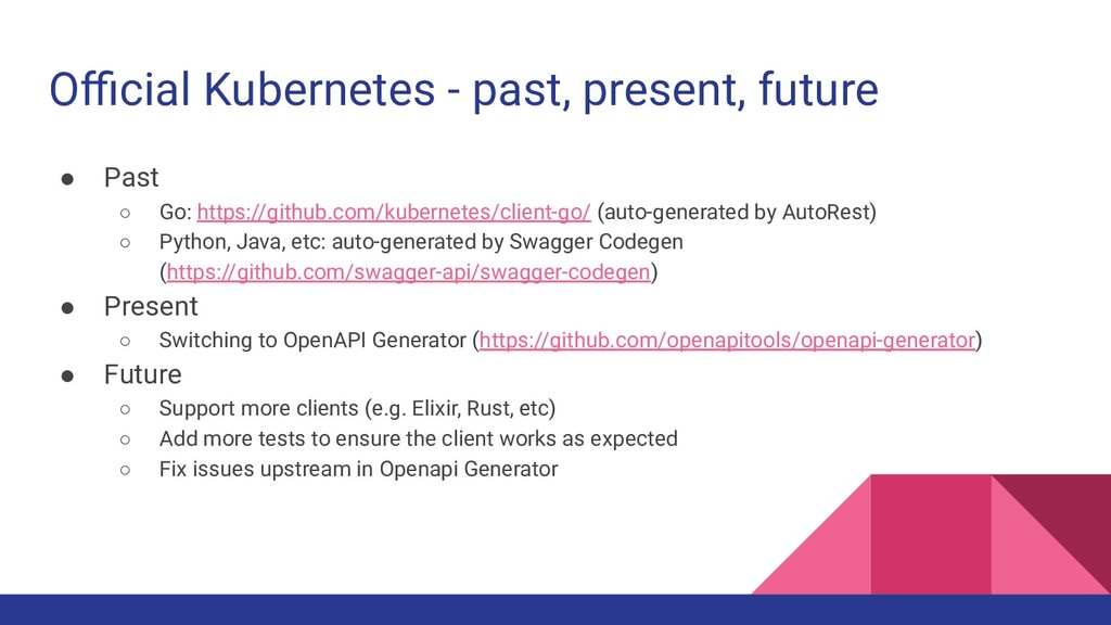 Official Kubernetes - past, present, future ● Pas...