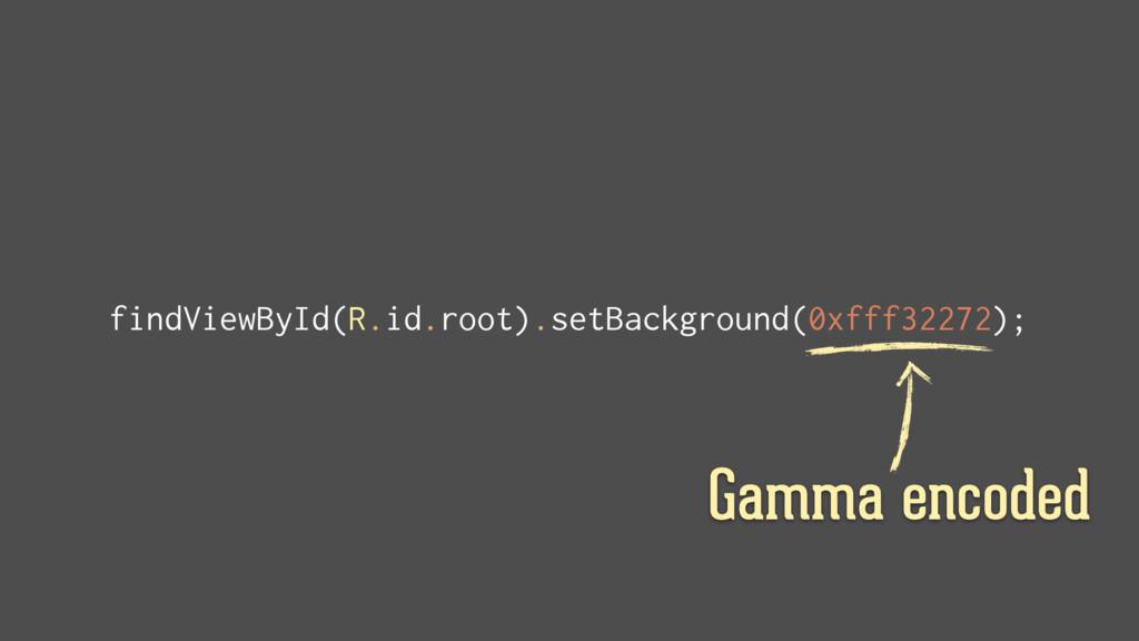 findViewById(R.id.root).setBackground(0xfff3227...