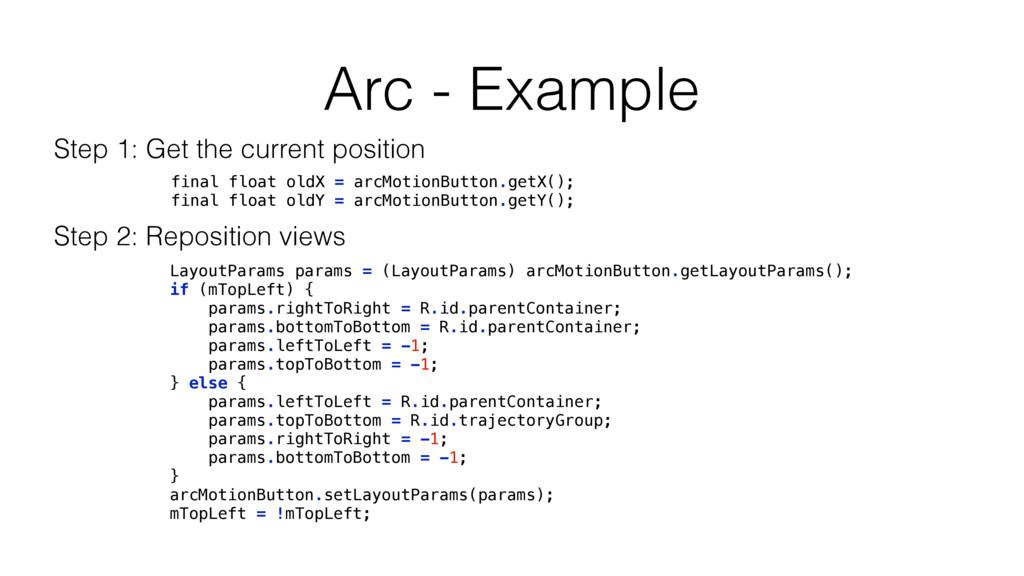 Arc - Example LayoutParams params = (LayoutPara...