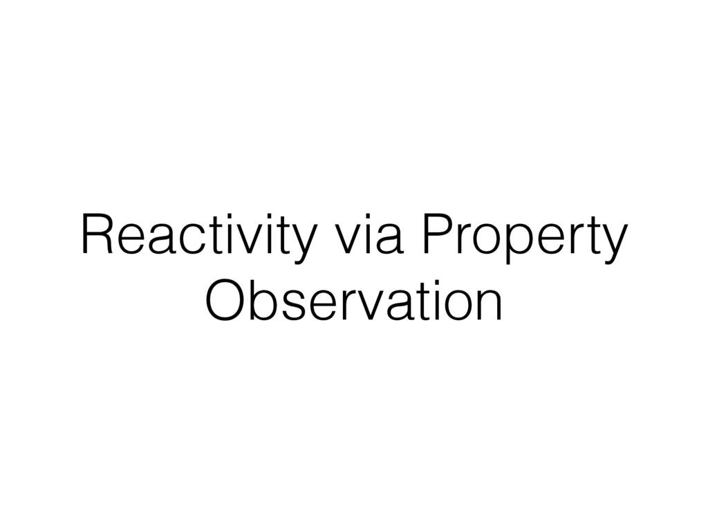 Reactivity via Property Observation