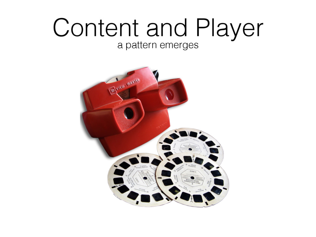 Content and Player a pattern emerges