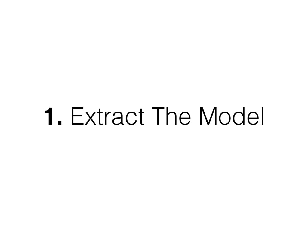 1. Extract The Model