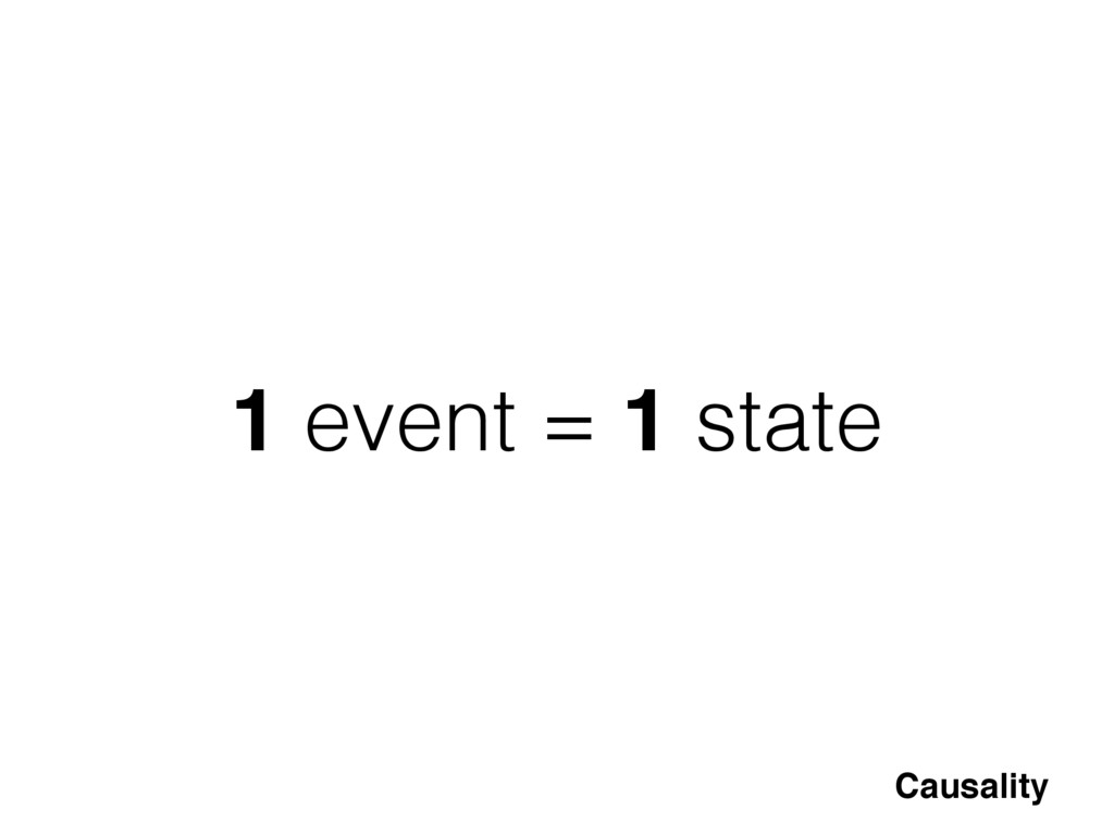 1 event = 1 state Causality