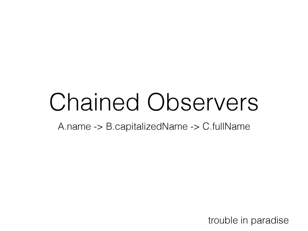 Chained Observers A.name -> B.capitalizedName -...