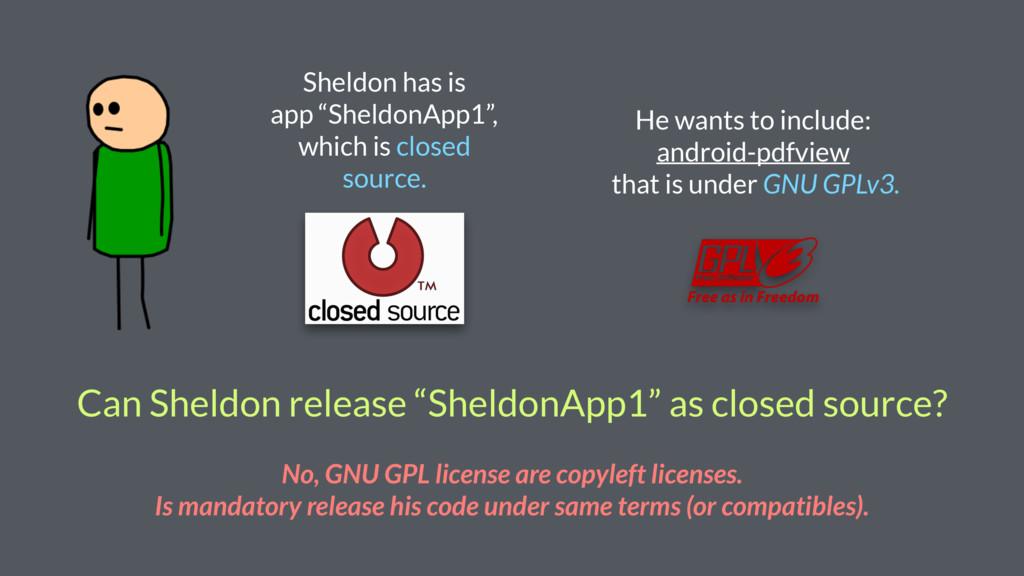 "Sheldon has is app ""SheldonApp1"", which is clos..."