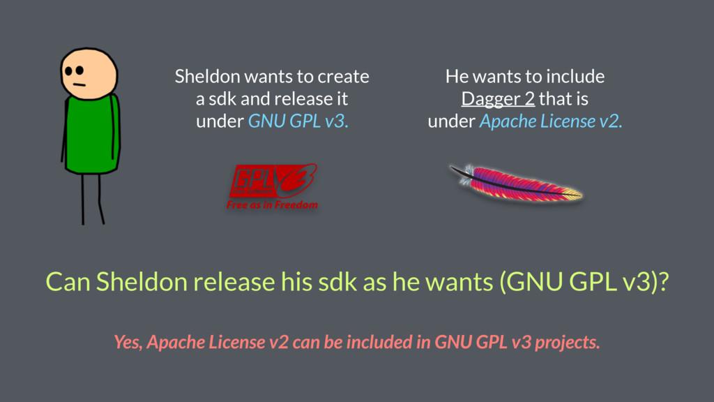 Can Sheldon release his sdk as he wants (GNU GP...