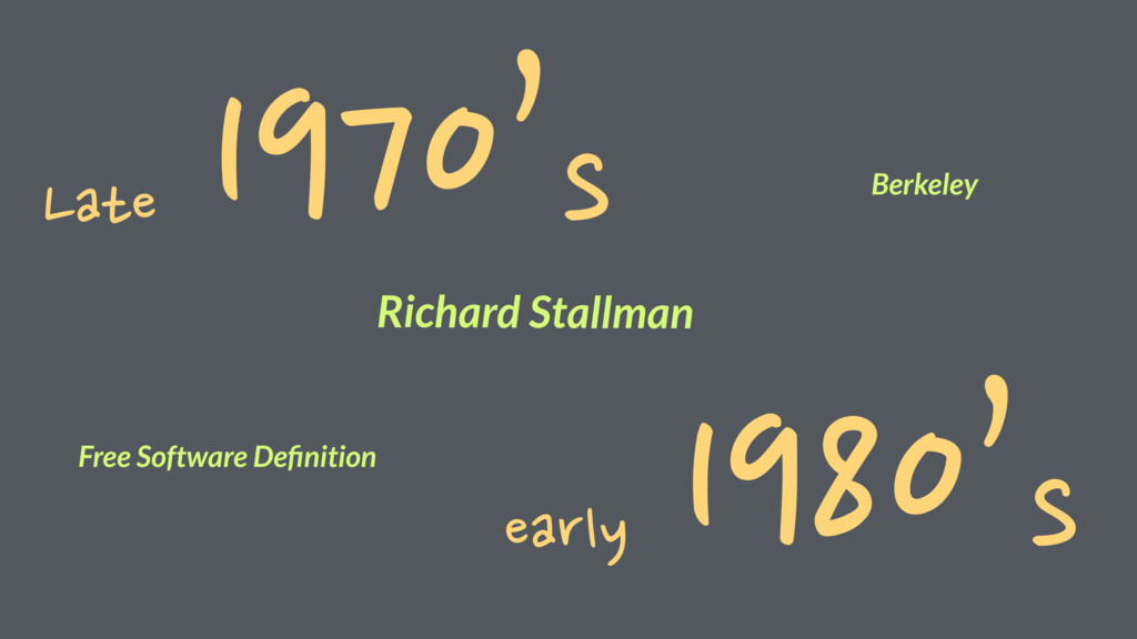 Late 1970's early 1980's Richard Stallman Free ...