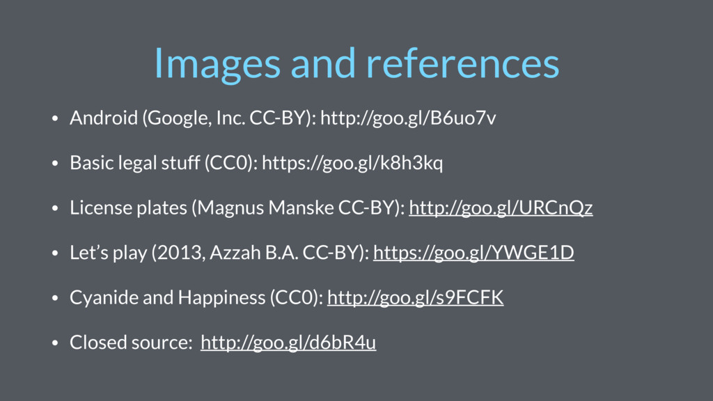 Images and references • Android (Google, Inc. C...