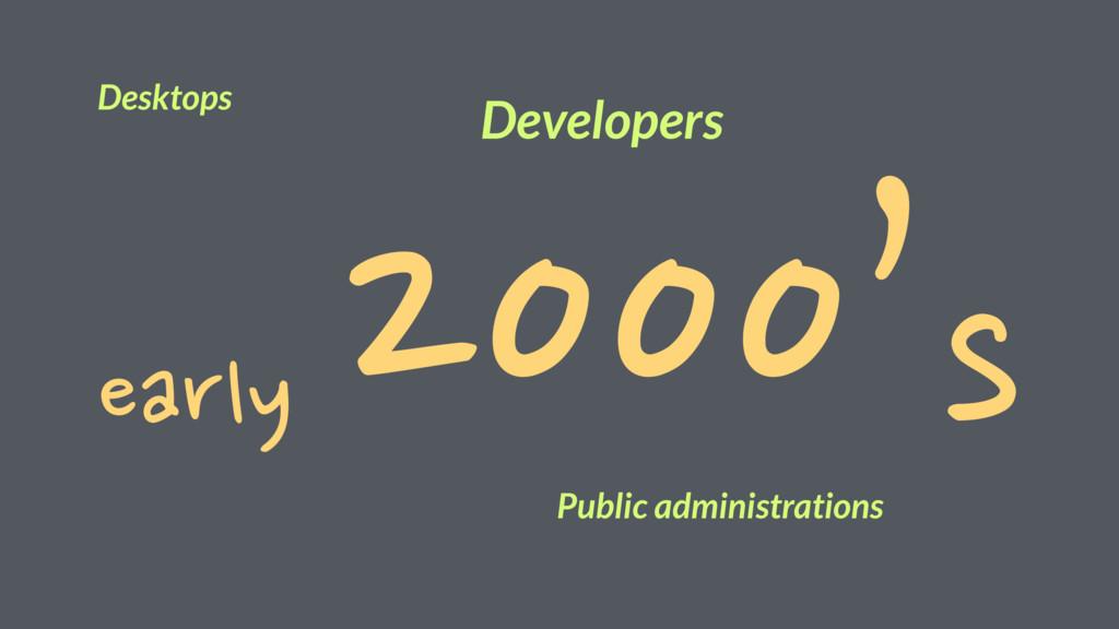 early 2000's Desktops Public administrations De...