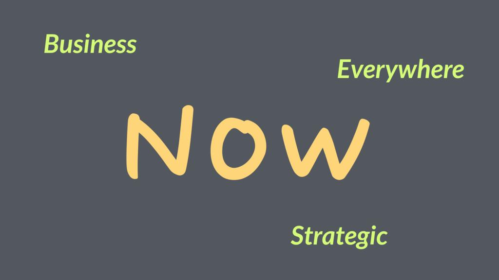 Now Business Strategic Everywhere