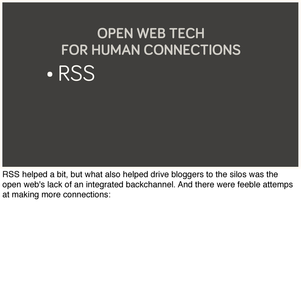 • RSS OPEN WEB TECH FOR HUMAN CONNECTIONS RSS h...