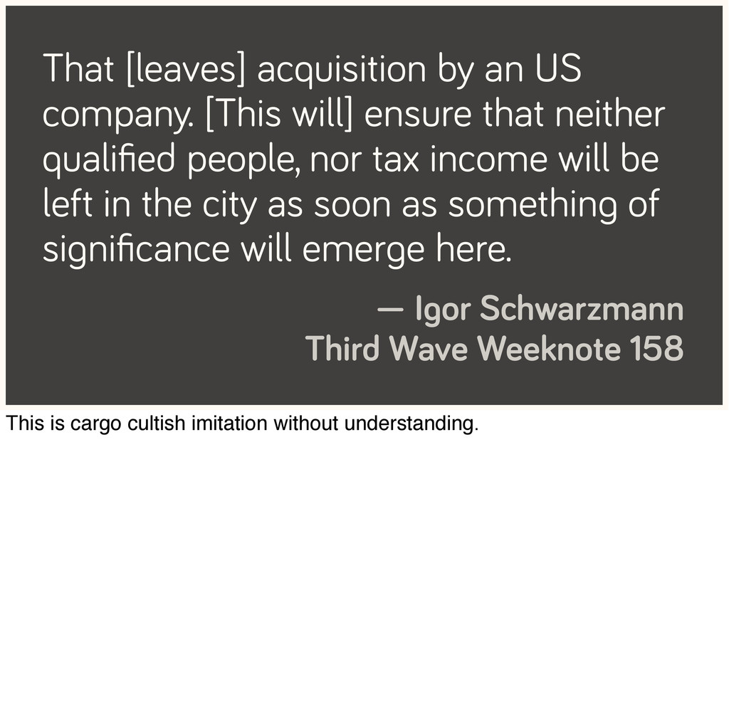 That [leaves] acquisition by an US company. [Th...